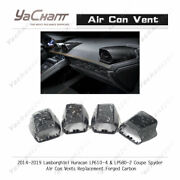 Forged Carbon Kit For 14-19 Huracan Lp610-4 Lp580-2 Air Con Vent Replacement