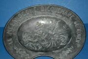 Large 2.3 Kg Antique French Pewter / White Metal Barbers Bleeding Bowlc1880