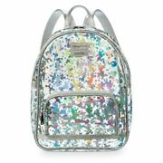 Disney Mickey Minnie Mouse Backpack Sequin Charm 2 Piece