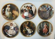 6 Norman Rockwell Rediscovered Women Knowles Bradford Exchange Decorative Plates