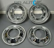 New Chrome Simulators Wheel Covers Set 2 Front 2 Rear For Dodge Ram 3500 Dually