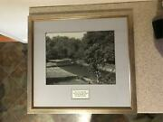 Stunning Lat Photo Monza Gp Signed By Stirling Moss And Dan Gurney F1 1961