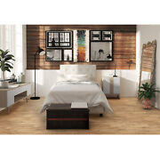 3 Piece Twin Size Bedroom Set Furniture Modern Design Bed 2 Nightstands White