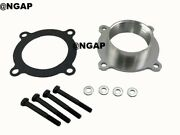Silver Throttle Body Spacer For 07-12 Jeep Liberty Grand Cherokee Commander 3.7l
