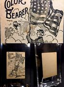 19th Century Civil War Parlor Game Antique Playing Card Flag Color Bearer Single