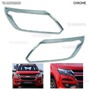 Front Head Lamp Lights Chrome Cover Fit Chevrolet Colorado Duramax Lt Truck 2017