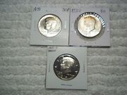 1971 P D S Kennedy Half Dollar Uncirculated And Proof Lot Of 5 Coins