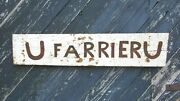 Antique 19th Century Farm Made Tin And Wood Farrier Sign