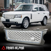 Grey/chrome/silver Abs Autobiography Style Grille/grill Fits 10-13 Range Rover