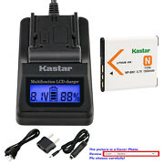 Kastar Battery Lcd Fast Charger For Sony Np-bn1 Npbn1 And Sony Cyber-shot Dsc-w690
