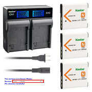 Kastar Battery Lcd Rapid Charger For Sony Np-bn1 Npbn1 Sony Cyber-shot Dsc-wx9