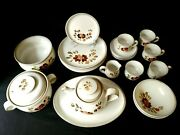 22 Pc Denby Serenade Stonewear England Diner Set Plate Bowl Cup Coffee Pot
