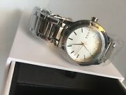 Dkny Tompkins Ny2209 Silver Tone Stainless Steel Women Watch New