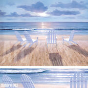 40wx30h Friends And Lovers By Diane Romanello -lounge Chairs Choices Of Canvas