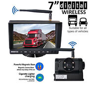 Digital Wireless 7 Monitor + Magnetic Base Ccd Camera For Tractor Caravan Truck