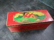 Vintage Art Deco Cottage Cws Biscuit Tin Box And Hinged Lid - East West Homes Best