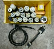Lot Of 24 Misc. Hubbellcooperpowerfit Connector Plugssocketswitch Bootnew/us