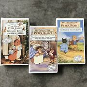 Beatrix Potter Vhs Lot 3 Tapes The World Of Peter Rabbit And Friends Collectors