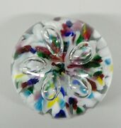 Vintage 1998 Gibson Flowers Paperweight