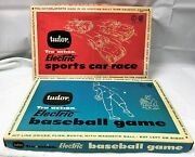 Vintage 1960and039s Tudor Tru Action Electric Baseball And Sports Car Racing Games Fpnw