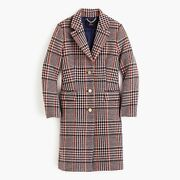 Nwt J Crew Plaid Single Breasted Topcoat Coat Sz 0 J5572 Sold Out