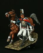 Tin Soldier, Museum Top, Wounded Cuirassier Leaving The Field Of Battle 54 Mm