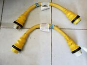 Marinco Ll22035 50a 125v 250v Shore Power Cable 2ft Pair New Old Stock