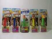 Pez Set Of 5 Ice Age Dawn Of Dinosaurs And The Meltdown Candy Dispenser T5157