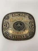 Champion 2011 Non Pro By Gist Belt Buckle Sterling Overlay 1/10 10k Hand Engrave