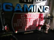 Vintage Las Vegas Casino El Rancho Sport Book Sign Original Lights Up 5and039x4and039x1and039