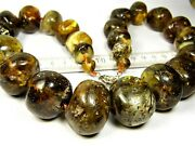 Massive Baltic Amber Stones Necklace 223 Grams Natural Genuine Authentic 805a
