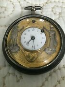 Sale- Antique Continental 18k Gold/silver/ruby Pocket Watch C1800and039s