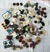 Antique And Vintage 3 Lbs Mixed Lot Of Old Sewing Buttons