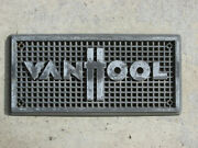 Authentic Vanhool Highway Coach Transit Bus Name Plate - Excellent Condition