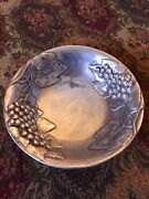 Antique Pewter Centerpiece Large Fruit Bowl Made In Italy