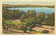 A View Of The Gardens And Tennis Courts, The Lakeside Hotel, Eagles Mere Pa 1949