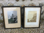 Pair Antique Frames Photo Napoleon 3 With Window In Restore Vintage Old Frame