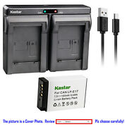 Kastar Battery Slim Dual Charger For Canon Lpe17 Eos Rp Mirrorless Digital Camer