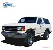 Paintable Extension Fender Flares Fits Ford F-150 F-250 F-350 Bronco 1987-1991