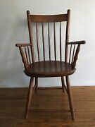 Antique American Rod Back Windsor Armchair Bamboo Chair