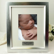 Baby Personalised Photo Frame 5x7 Photo Silver - Personalised Custom Gift