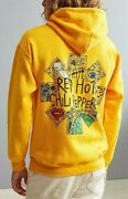 Red Hot Chili Peppers Doodle Pullover Hoodie Yellow New 100 Authentic Rare