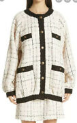 Oversized Tweed Bomber Jacket-with Tags- Rrp5200 Aud