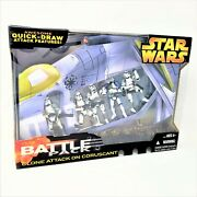 Star Wars Battle Pack Clone Attack On Coruscant 5 Figures With Quick-draw Mib
