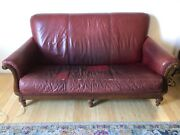 Thomasville Leather Sofa Couch 60 Used