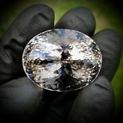 96 Carat Heirloom Quality Faceted Herkimer Diamond Jewel - Genuine From Ny - Aaa