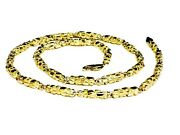 10kt Solid Gold Handmade Nugget Link Chain/necklace 20 46 Grams 4.5 Mm