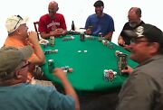 Game Table Cover In Poker Poly Felt - Fits Lifetime Rectangle Tables - Fs