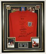 England 1966 Signed Shirt Autograph Jersey Display Signed By 10