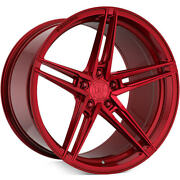 """20"""" Rohana Rfx15 Gloss Red Wheels For Merecedes Cls550 Cls55 Cls63 20x9 20x11"""